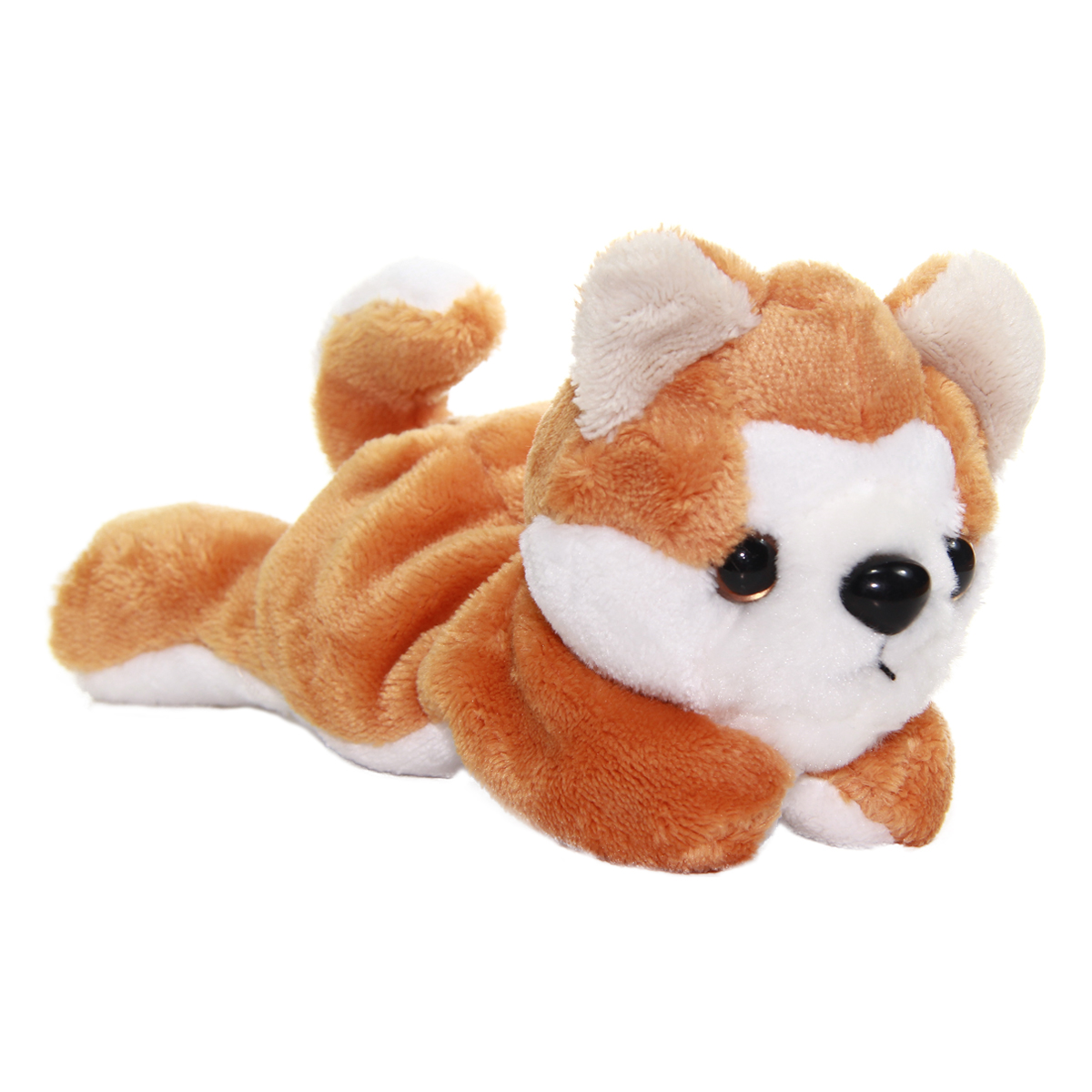 Kawaii Friends Dog Collection Brown White Plush 9 Inches