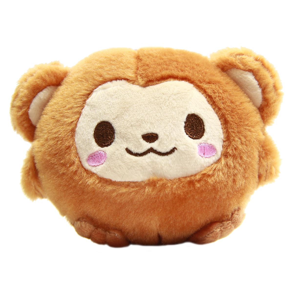 Monkey Plush Doll Kawaii Stuffed Animal Soft Fuzzy Squishy Plushie Mochi Brown