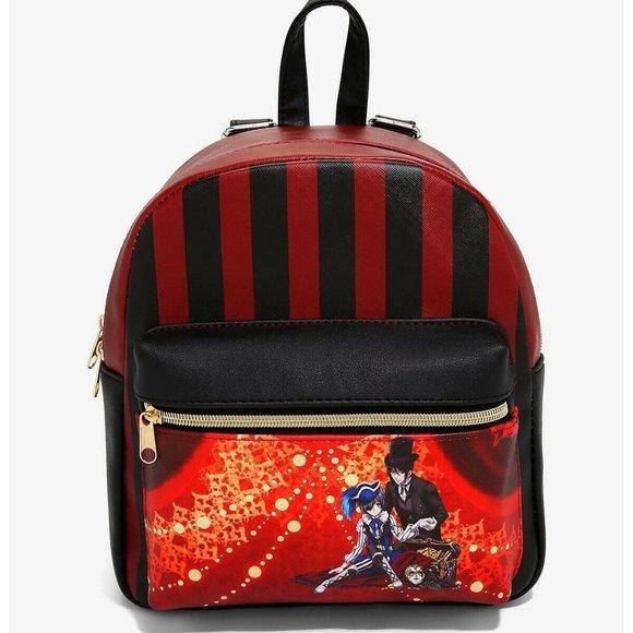 Black Butler Sebastian & Ciel Striped Mini Backpack