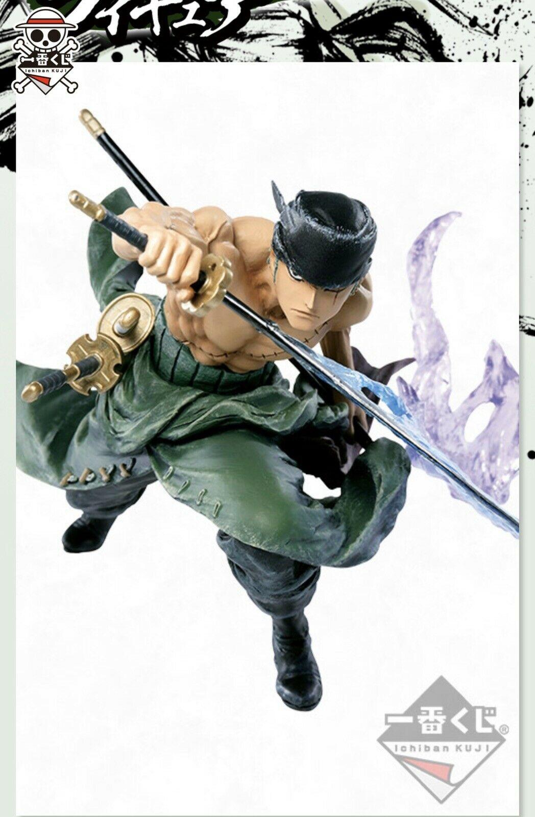 Roronoa Zoro Figure, Ichiban Kuji, Prize D, One Piece, 20th Anniversary, Bandai
