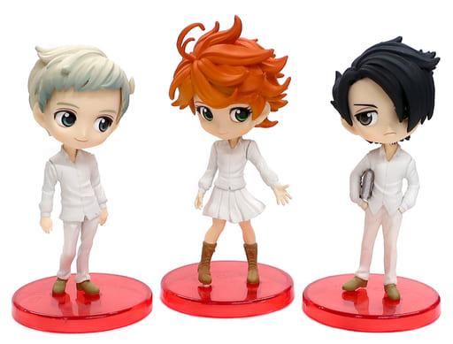 Emma, Ray, Norman, Limited Q Posket Mini Petite Figure Set, The Promised Neverland, Banpresto
