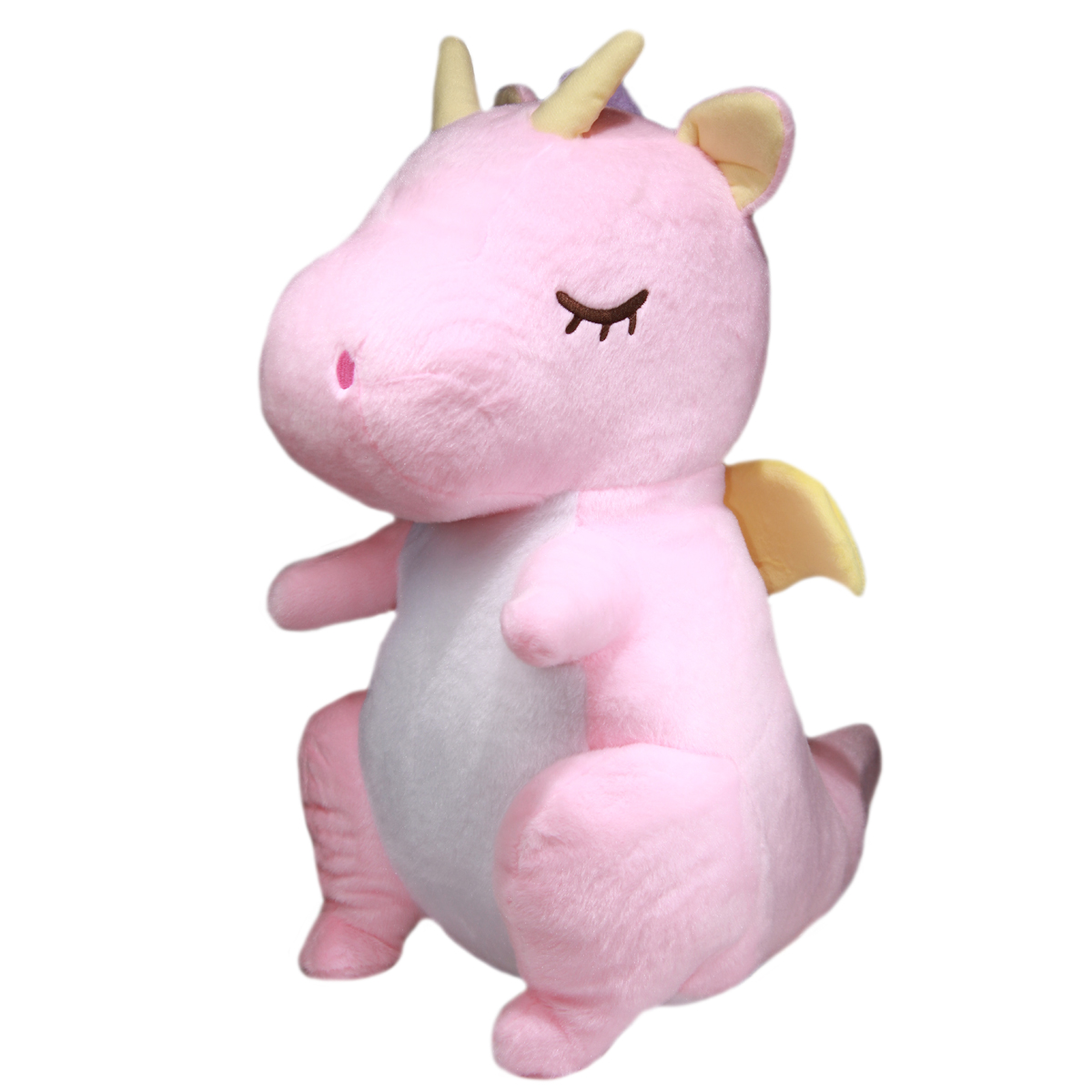 Fantasy Dragon Plushie Soft Stuffed Animal Toy Pink BIG Size 18 Inches