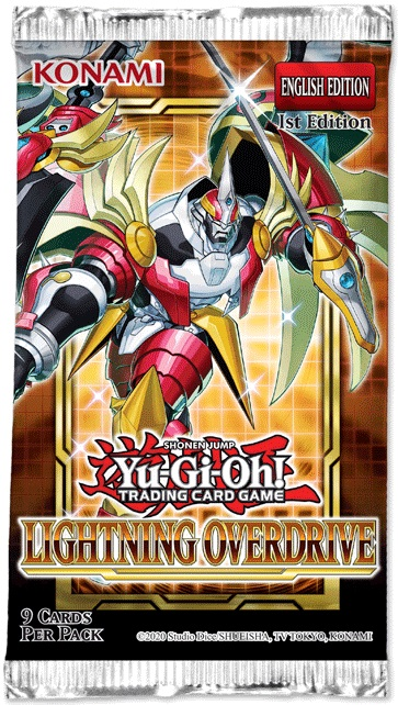 Yu-Gi-Oh Lightning Overdrive 1st Edition Card Pack  TCG Trading Card