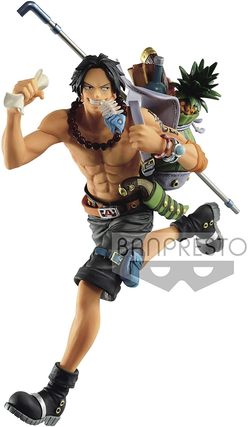Portgas D. Ace Figure, Three Brothers Collectible Statue, One Piece, Banpresto