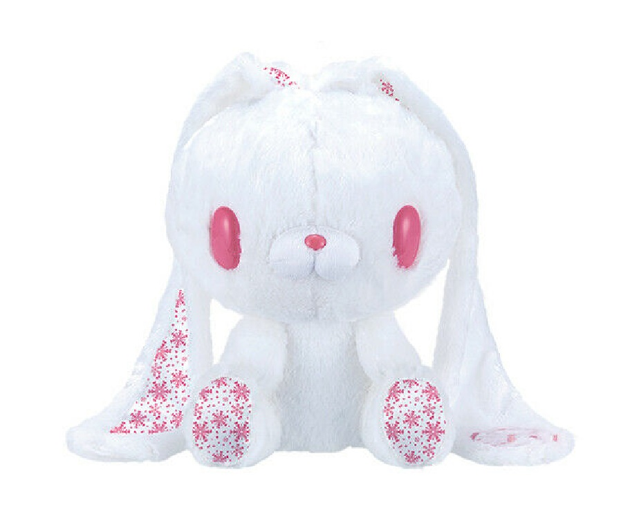 Taito Gloomy Bear Bunny Plush Doll Winter Edition GP #571 White Pink 12 Inches