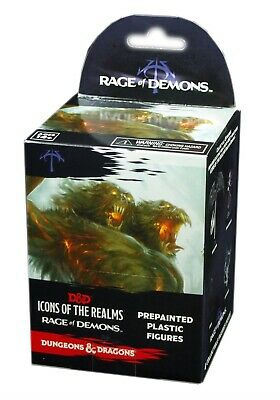 Dungeons & Dragons D&D Fantasy Miniatures: Icons of the Realms: Rage of Demons Standard Booster Pack Blind Box