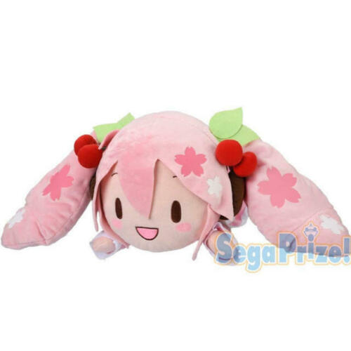 Sakura Miku Plush Doll 2020 Ver. Cherry Blossoms Pink Outfit Big Size 15 Inches Vocaloid Sega
