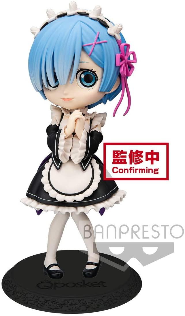 Rem Figure, Black Maid Uniform, Re:Zero - Starting Life in Another World, Q Posket, Banpresto