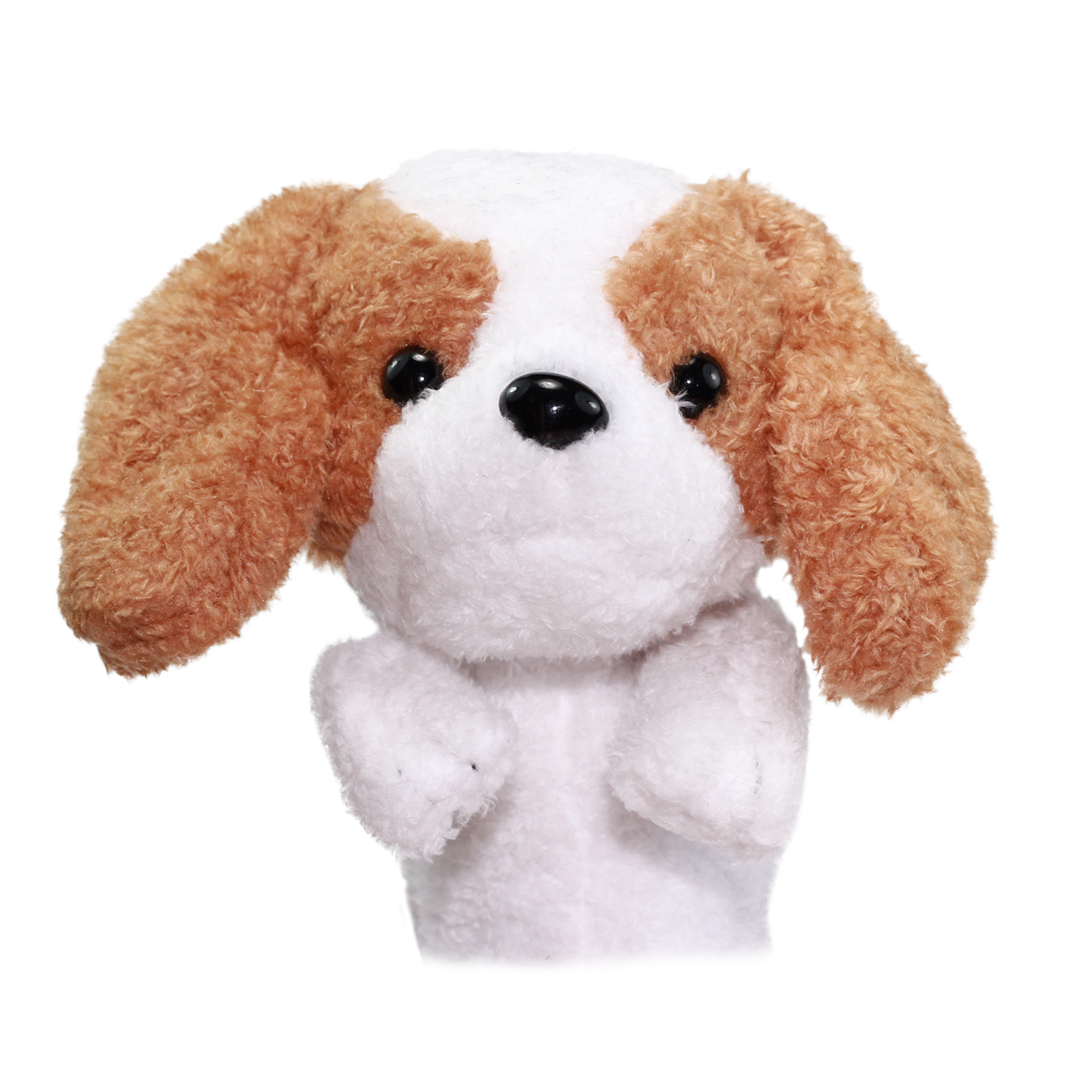 Dog Pencil Case Pouch Stuffed Animal Back To School Collection Fluffy Brown Spaniel Plush 10 Inches
