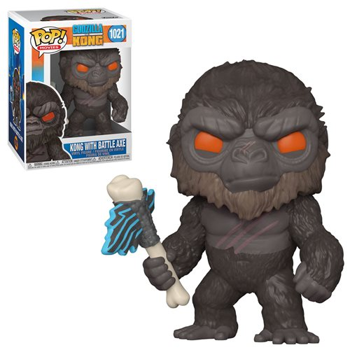 Kong with Battle Axe Figure Godzilla vs Kong Funko Pop Animation 3.75 Inches Funko Pop 1021