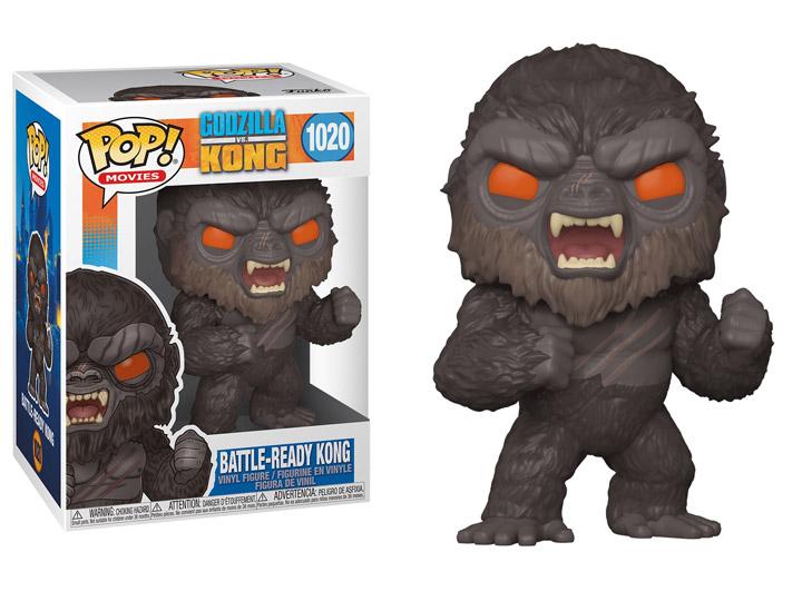 Kong Battle-Ready Kong Figure Godzilla vs Kong Funko Pop Animation 3.75 Inches Funko Pop 1020