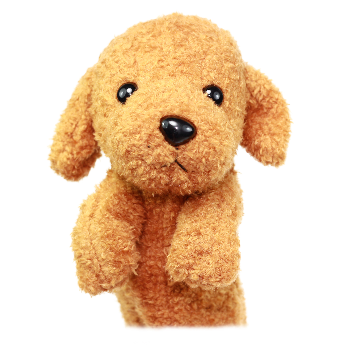 Dog Pencil Case Pouch Stuffed Animal Back To School Collection Fluffy Brown  Poodle Plush 10 Inches