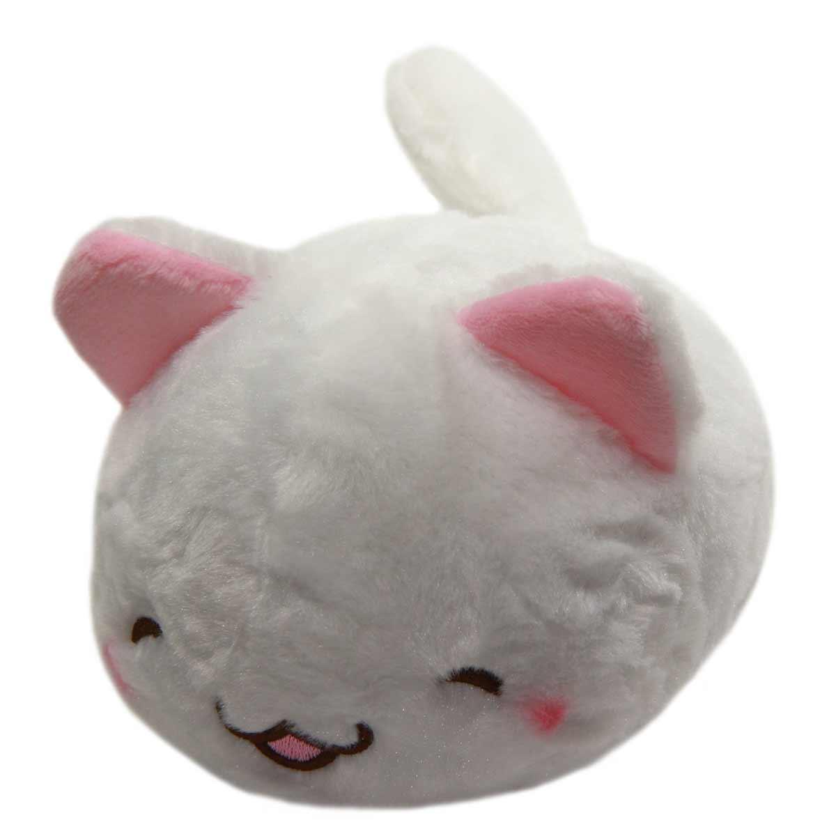 Kawaii Neko Plushie White Cat Plush Doll Super Soft Stuffed Animal Standard Size 6
