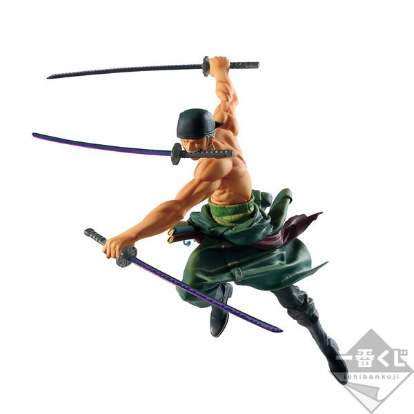 Roronoa Zoro Figure, Ichiban Kuji, Prize B, One Piece, Battle, Bandai