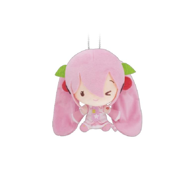 Sakura Miku Plush Doll Keychain Miku Hatsune Winking Ver. Vocaloid 6 Inches Taito