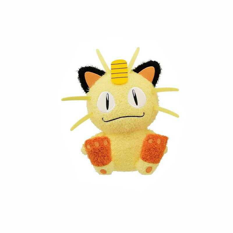 Pokemon Sun & Moon Meowth Plush Doll Hopepita Dekkai 10 Inches Banpresto
