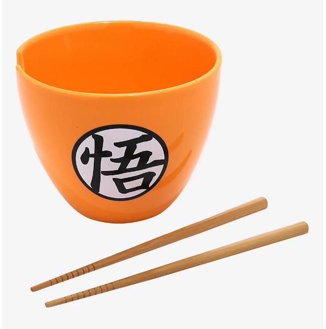 Dragon Ball Super Goku Kanji Ramen Bowl With Chopsticks