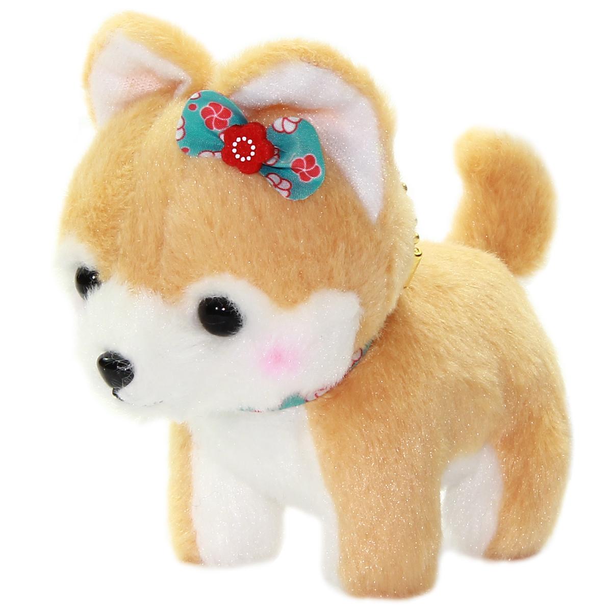 Amuse Dog Plushie, Mameshiba San Kyodai Koume Brown 4 Inches