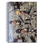 Attack on Titan Mikasa, Eren, Armin Group Spiral Anime Notebook