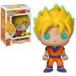 Super Saiyan Goku Figure Dragonball Z Glows In The Dark EE Funko Pop Animation 3.75 Inches - Funko Pop 14