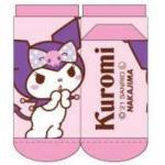 Kuromi Womens Socks One Size 23-24cm Pink Sanrio