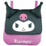 Sanrio Die Cut Multi Pocket Bag Kuromi